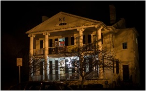 The Kappa Sigma fraternity house on campus was the site of one of the year's first big social events. During the party, Anna said, three football players assaulted her in one of the student bedrooms there.