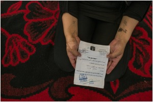 "A 25-year-old Yazidi woman showed a ""Certificate of Emancipation"" given to her by a Libyan who had enslaved her. He explained that he had finished his training as a suicide bomber and was planning to blow himself up, and was therefore setting her free."