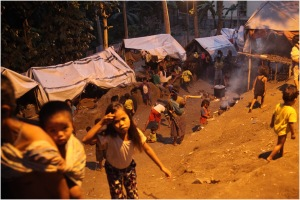 Displacement camp for Lumads at a church in Davao City