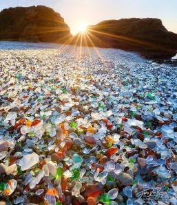 Glass Beach Fort Brag California