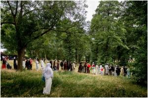 Muslims celebrating Eid al-Fitr in Valentines Park in London in July